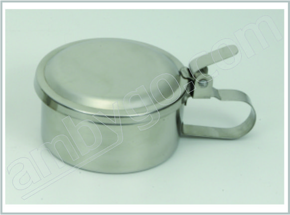 Spitting Mug with Lid, Stainless Steel